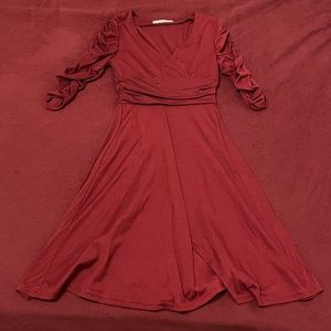 NWOT maroon dress!
